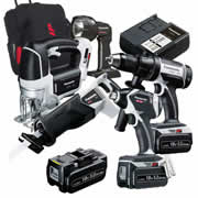 Panasonic EYC2008LJ31 Panasonic 18v 5.0Ah Li-ion Cordless 5 Piece Kit - 3 x 5.0Ah Batteries