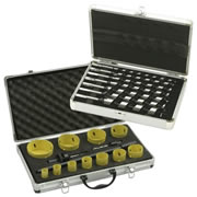 14 Piece Holesaw Set & 7 Piece Auger Drill Bit Set Pack