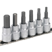 "Sealey AK656 Sealey Hex Key Socket Set 6pc 3/8""Sq Drive Metric"
