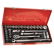 "Sealey AK693 Sealey Socket Set 32pc 1/2""Sq Drive 6pt WallDrive® - DuoMetric®"