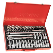 "Sealey AK6941 Sealey Socket Set 46pc 1/2""Sq Drive 6pt WallDrive® - Metric"