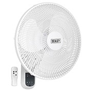 "Sealey SWF16WR Sealey 3 Speed Wall Fan with Remote Control 400mm (16"")"