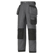 Snickers 32145804 Snickers Canvas+ Trousers With Holster Pockets (Grey/Black)