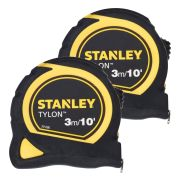 Stanley 0-30-686 Stanley Bi Material Tape 3m/10ft Twin Pack