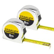 Stanley 0-33-552 Stanley Powerlock Metric Tape 5m Twin Pack