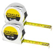 Stanley 0-33-553 Stanley Powerlock Tape 5m/16ft Twin Pack