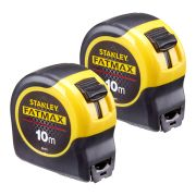Stanley 0-33-811 Stanley Fat Max Tape 10m (Metric Only) Twin Pack