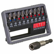 Ultex 300807 Ultex 10 Piece Trade PZ and PH Screwdriver Bit Set