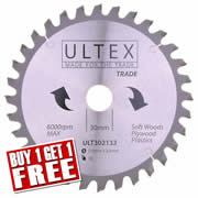 Ultex 302132 Ultex 216mm 32 Tooth TCT Trade Blade