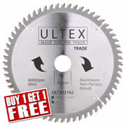 Ultex 302162 Ultex 216mm 60 Tooth TCT Trade Blade (Aluminium Cutting)