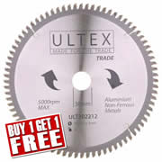 Ultex 302212 Ultex 250mm 80 Tooth TCT Trade Blade (Aluminium Cutting)
