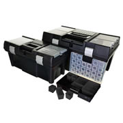 Vaunt 12023 3 Piece Vaunt Tool Boxes with Organiser Box