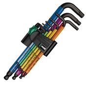 Wera 073593 Wera 073593 SPKL/9 SM Multicolour L-Key 9 Piece Set, Metric.