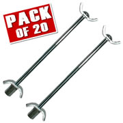 Professional WTCPK40 Worktop Connecting Bolts (20 Pairs)