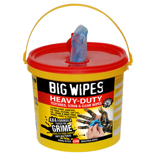 Big Wipes 2427 Big Wipes Heavy Duty Wipes (240 Wipes)