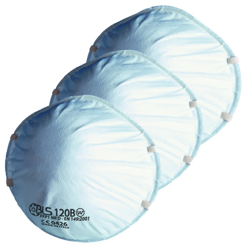 BLS 120 BLS Disposable Cup Mask FFP1 (Pack of 3)