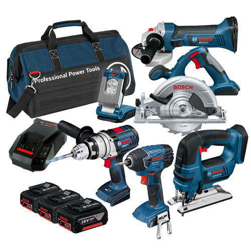 Bosch BAG6RS Bosch 18v 6 Piece Cordless Kit and Bag