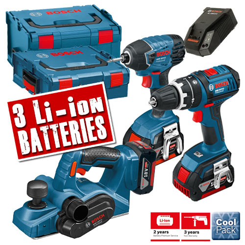Bosch LBOXX3KITD Bosch 18v 4.0Ah Lithium-ion Cordless 3 Piece Kit