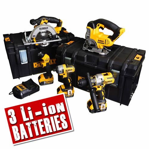 Dewalt BXR55AH Dewalt 18v XR Brushless 5 Piece Pack - 5.0Ah