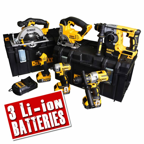 Dewalt BXR65AH Dewalt 18v XR 6 Piece Brushless Kit - 5.0Ah