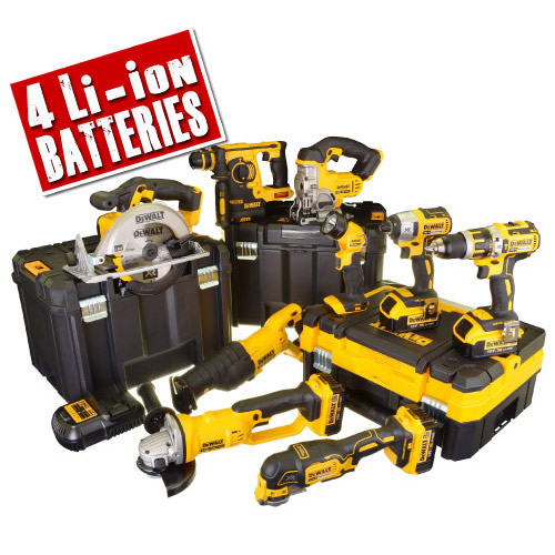 Dewalt BXR9T Dewalt 18v XR Li-ion 9 Piece Package - 4.0Ah