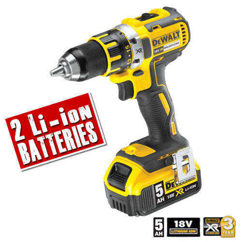 Dewalt DCD790P2 Dewalt 18v 5.0Ah XR Li-ion 2 Speed Brushless Drill Driver