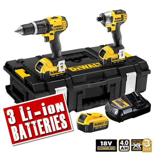 Dewalt DCK255M3 Dewalt 18v 4.0Ah Li-ion Brushless 2 Piece Kit (3 batteries)