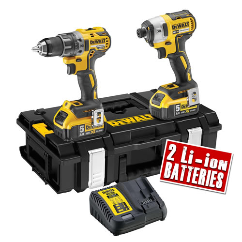 Dewalt DCK266P2 Dewalt 18v XR Brushless Kit DS150 - 2 x 5.0Ah Batteries