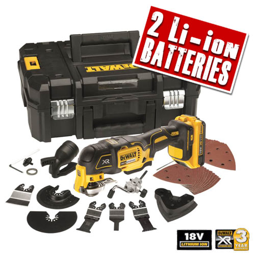 Dewalt DCS355D2 Dewalt 18v XR li-ion Brushless 2.0Ah Oscillating Multi-Tool