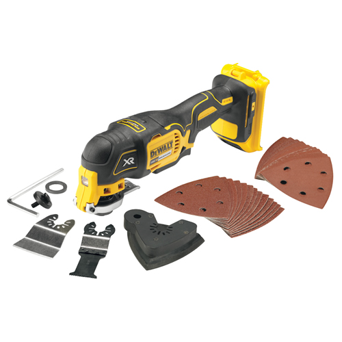 Dewalt DCS355 Dewalt 18v XR 4.0Ah Brushless Multi-Tool (Body Only) with 29 Accessories