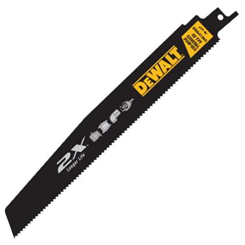 Dewalt DT2409LQZ Dewalt 304mm Long Life Recip Saw Blades - Pack of 5