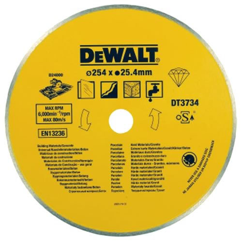 Dewalt Porcelain & Stone Cutting Tile Blade for D24000