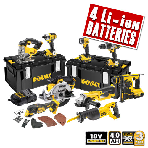 Dewalt XR9KIT Dewalt 18v 4.0Ah XR Li-ion 9 Piece Kit