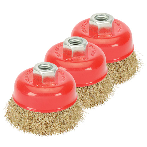 Draper 41445PACK (CB100CP) Draper 100mm Crimped Wire Cup Brush M14 Pack of 3