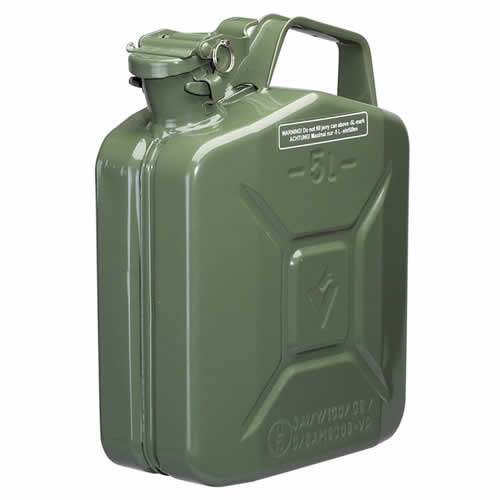 Draper 54437 Draper 5 Litre Steel Fuel Can (Green)