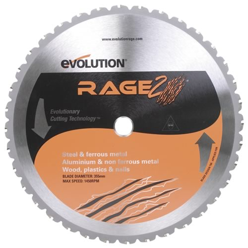 Evolution EVO355RAGE2 Evolution 355mm TCT Multipurpose Blade