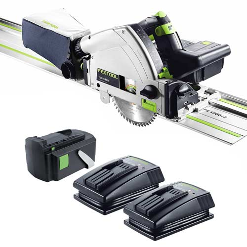 Festool TSC 55 Li 5,2 REB-Set Festool AirSteam 18v 55mm Circular Plunge Saw + 1 x Rail