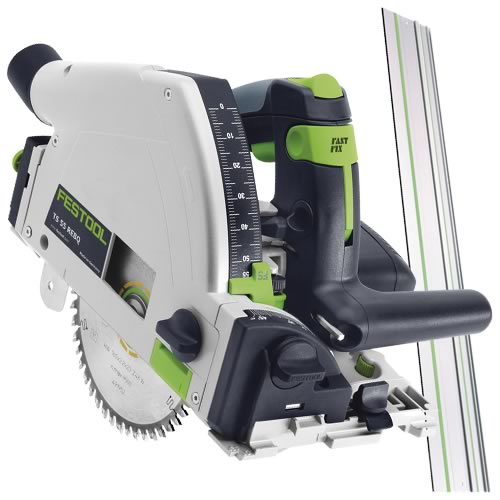 Festool TS55 REBQ-Plus Festool 55mm Plunge Saw with Guide Rail & Systainer