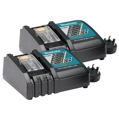 Makita DC18RC Makita 18v 240v Li-Ion Charger (Twinpack)