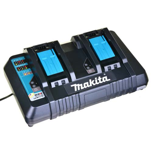 Makita DC18RD Makita Li-Ion Dual Port Battery Charger 7.2v - 18v