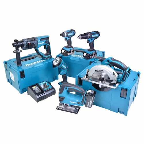 Makita 6LTJ Makita 18v Li-ion 5.0Ah 6 Piece Kit