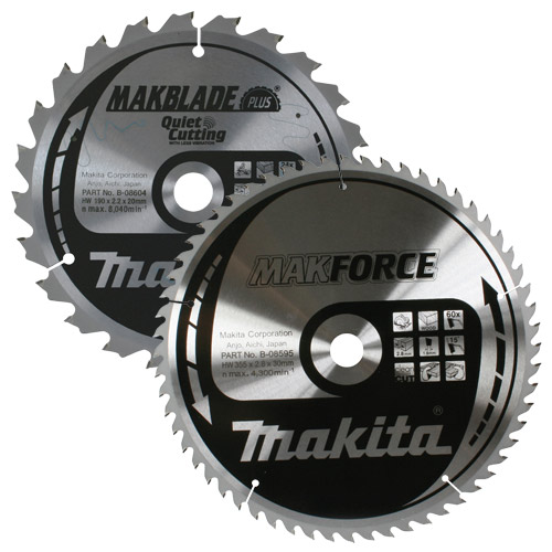 Makita B216PK2 Makita 216mm 60 & 48 Tooth Saw Blade Pack