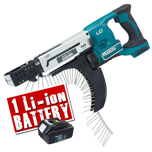 Makita 18v Li-ion Autofeed Screwgun Body + Battery