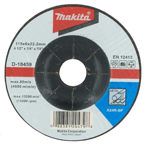 "Makita D-18459 Makita 115mm (4.5"") Metal Grinding Disc"
