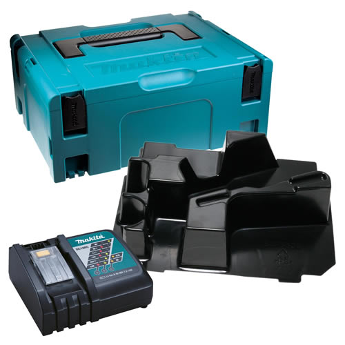Makita DBOSC Makita Stackable Case, Orbital Sander Inlay and Charger
