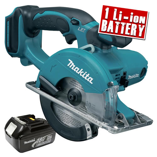 Makita DCS550Z3 Makita 18v Li-ion Metal Cutting Saw Body + 1 x 3.0Ah Battery