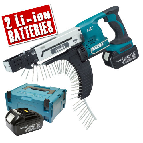 Makita DFR750RFE Makita 18v Li-ion Autofeed Screwgun