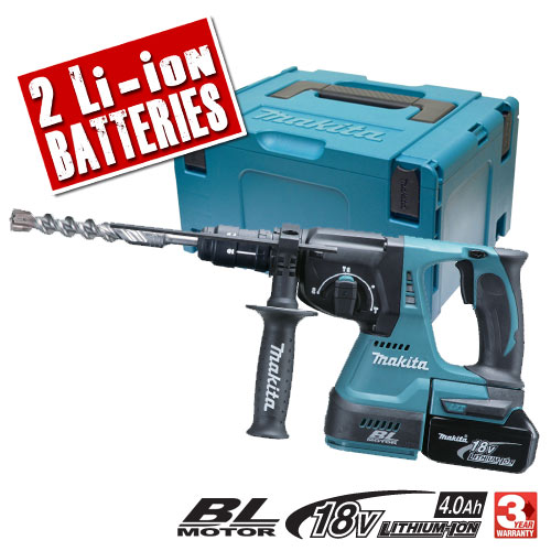 Makita DHR243RME Makita 18v Li-ion Brushless SDS+ Hammer Drill with Quick Change Chuck
