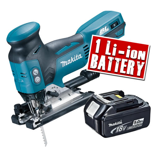 Makita DJV181Z5 Makita 18v LXT Li-ion Brushless Jigsaw Body + 1 x 5.0Ah Battery
