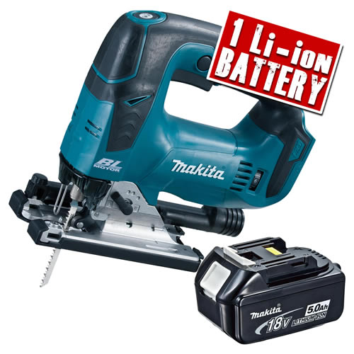 Makita DJV182-Z5 Makita 18v Li-ion Brushless Jigsaw Body + 1 x  5.0Ah Battery